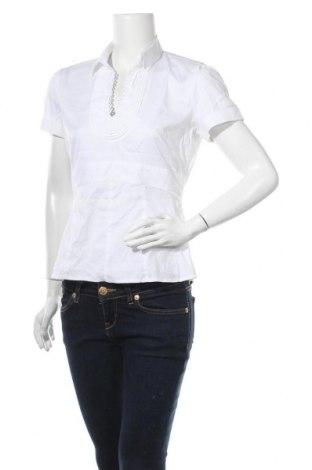 Γυναικεία μπλούζα Comma,, Μέγεθος M, Χρώμα Λευκό, 70% βαμβάκι, 26% πολυαμίδη, 4% ελαστάνη, Τιμή 12,86€