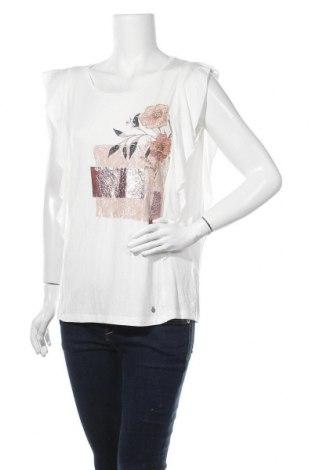 Γυναικεία μπλούζα Cream, Μέγεθος L, Χρώμα Εκρού, 95% βισκόζη, 5% ελαστάνη, Τιμή 24,90€