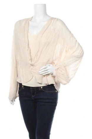 Дамска блуза Day Birger Et Mikkelsen, Размер L, Цвят Бежов, Вискоза, Цена 44,50лв.
