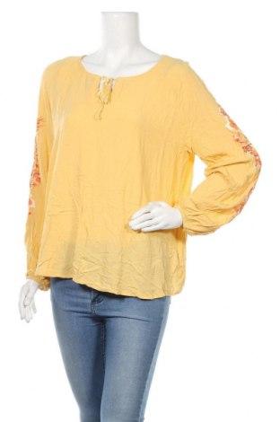 Γυναικεία μπλούζα Defacto, Μέγεθος XL, Χρώμα Κίτρινο, Βισκόζη, Τιμή 6,79€