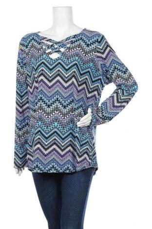 Дамска блуза Derek Heart, Размер XXL, Цвят Многоцветен, 92% полиестер, 8% еластан, Цена 18,90лв.