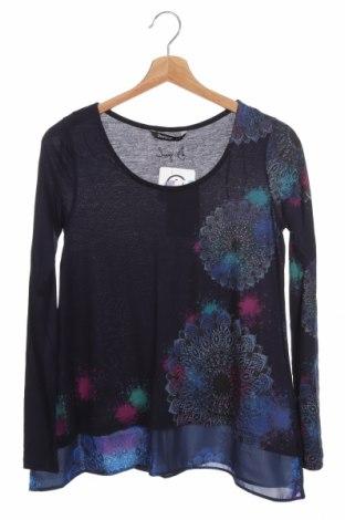 Дамска блуза Desigual, Размер XS, Цвят Син, Вискоза, Цена 65,25лв.