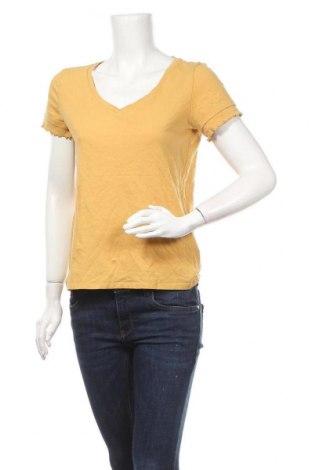 Γυναικεία μπλούζα Edc By Esprit, Μέγεθος M, Χρώμα Κίτρινο, 85% βαμβάκι, 15% λινό, Τιμή 10,39€