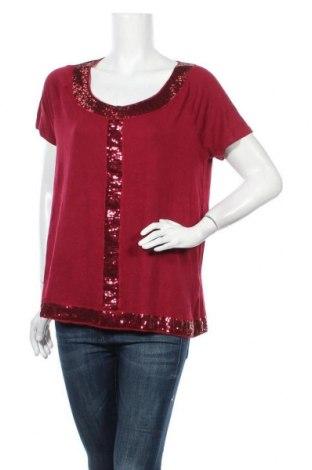 Γυναικεία μπλούζα Ellos, Μέγεθος XL, Χρώμα Κόκκινο, 95% βισκόζη, 5% ελαστάνη, Τιμή 10,49€