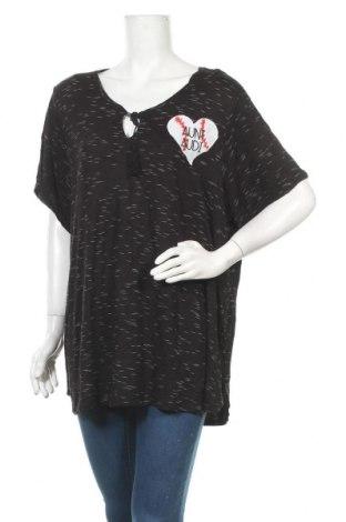 Γυναικεία μπλούζα Faded Glory, Μέγεθος 4XL, Χρώμα Μαύρο, 98% βισκόζη, 2% ελαστάνη, Τιμή 11,11€