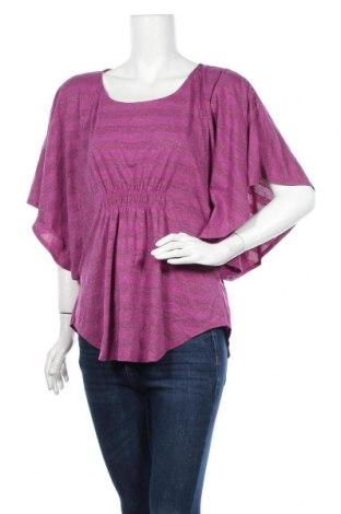 Γυναικεία μπλούζα Faded Glory, Μέγεθος L, Χρώμα Ρόζ , 67% πολυεστέρας, 16% μεταλλικά νήματα, 13% βισκόζη, 4% ελαστάνη, Τιμή 12,34€