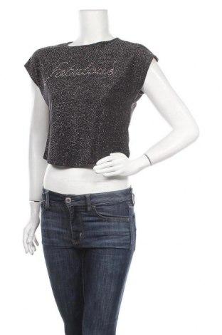 Γυναικεία μπλούζα Fb Sister, Μέγεθος S, Χρώμα Μαύρο, 79% πολυαμίδη, 14% πολυεστέρας, 7% μεταλλικά νήματα, Τιμή 9,25€
