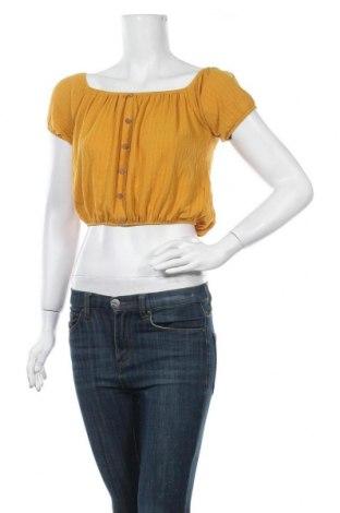 Γυναικεία μπλούζα Forever 21, Μέγεθος S, Χρώμα Κίτρινο, 68% πολυεστέρας, 30% βισκόζη, 2% ελαστάνη, Τιμή 10,39€
