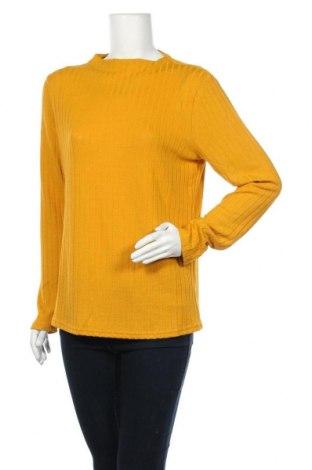 Дамска блуза Free Quent, Размер XL, Цвят Жълт, 50% полиестер, 45% вискоза, 5% еластан, Цена 11,33лв.