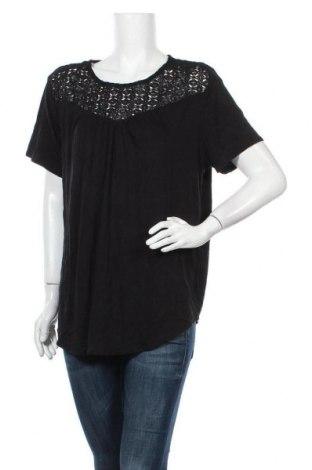 Γυναικεία μπλούζα George, Μέγεθος XXL, Χρώμα Μαύρο, 95% βισκόζη, 5% ελαστάνη, Τιμή 11,69€