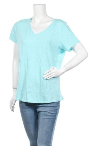Γυναικεία μπλούζα George, Μέγεθος L, Χρώμα Μπλέ, Βαμβάκι, Τιμή 9,09€