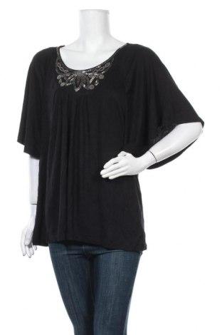 Γυναικεία μπλούζα George, Μέγεθος XL, Χρώμα Μαύρο, 95% βισκόζη, 5% ελαστάνη, Τιμή 11,04€