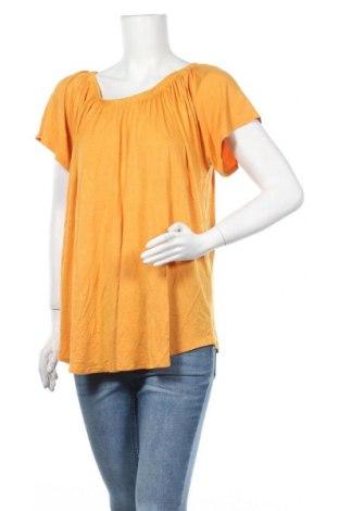 Γυναικεία μπλούζα George, Μέγεθος XXL, Χρώμα Κίτρινο, 95% βισκόζη, 5% ελαστάνη, Τιμή 9,87€