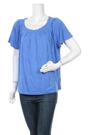 Γυναικεία μπλούζα George, Μέγεθος XL, Χρώμα Μπλέ, 95% βισκόζη, 5% ελαστάνη, Τιμή 11,69€