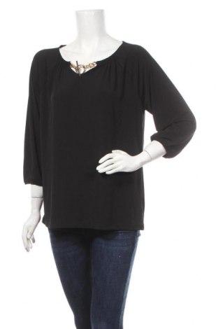 Γυναικεία μπλούζα George, Μέγεθος L, Χρώμα Μαύρο, 96% πολυεστέρας, 4% ελαστάνη, Τιμή 12,34€