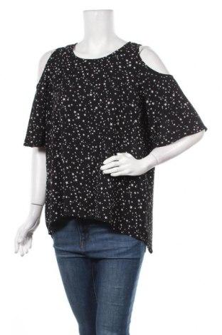 Дамска блуза Gina, Размер L, Цвят Черен, 96% полиестер, 4% еластан, Цена 16,80лв.
