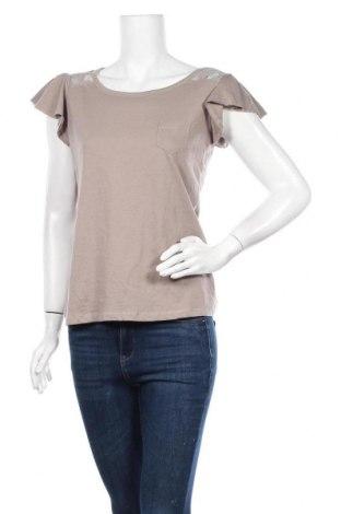 Дамска блуза Gina, Размер M, Цвят Кафяв, 50% памук, 50% полиестер, Цена 13,39лв.