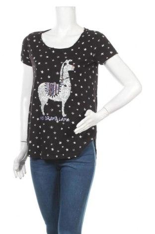 Дамска блуза Gina, Размер L, Цвят Черен, 71% вискоза, 29% памук, Цена 15,12лв.
