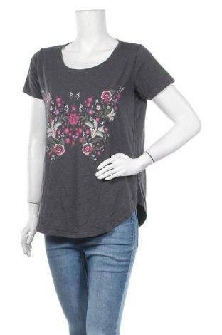 Γυναικεία μπλούζα Gina Tricot, Μέγεθος L, Χρώμα Γκρί, 50% βαμβάκι, 50% βισκόζη, Τιμή 9,74€