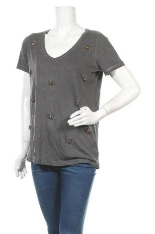 Γυναικεία μπλούζα Gina Tricot, Μέγεθος M, Χρώμα Γκρί, 50% βαμβάκι, 50% μοντάλ, Τιμή 11,11€