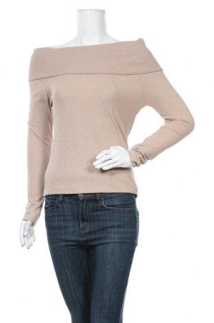 Γυναικεία μπλούζα Gina Tricot, Μέγεθος S, Χρώμα  Μπέζ, 80% πολυεστέρας, 20% βισκόζη, Τιμή 12,34€
