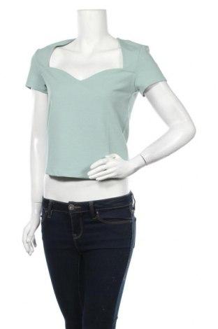 Γυναικεία μπλούζα Gina Tricot, Μέγεθος L, Χρώμα Πράσινο, 96% πολυεστέρας, 4% ελαστάνη, Τιμή 15,08€