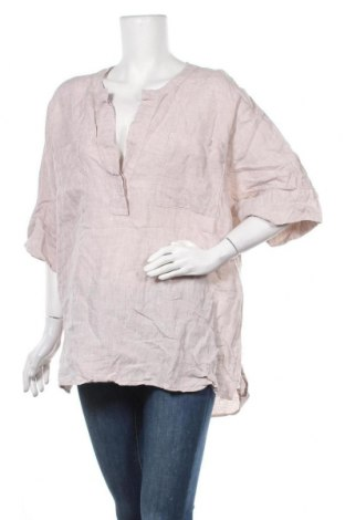 Дамска блуза H&M, Размер XXL, Цвят Бежов, 100% лен, Цена 18,90лв.
