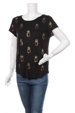 Дамска блуза H&M, Размер L, Цвят Черен, Вискоза, Цена 17,96лв.