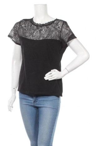 Дамска блуза H&M, Размер XL, Цвят Черен, 95% памук, 5% еластан, Цена 15,96лв.