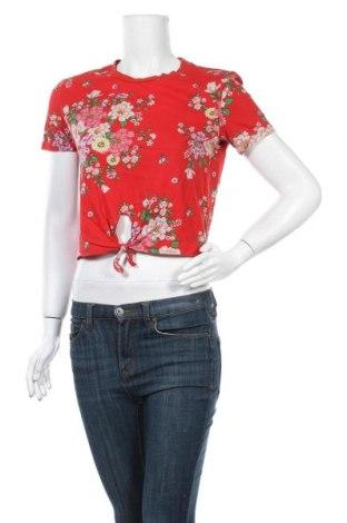 Дамска блуза H&M Divided, Размер S, Цвят Червен, Памук, Цена 16,80лв.