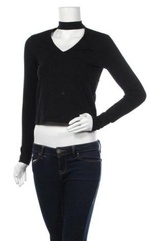 Дамска блуза H&M Divided, Размер M, Цвят Черен, 95% памук, 5% еластан, Цена 19,95лв.