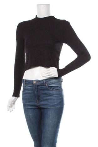 Дамска блуза H&M Divided, Размер M, Цвят Черен, 96% вискоза, 4% еластан, Цена 13,65лв.