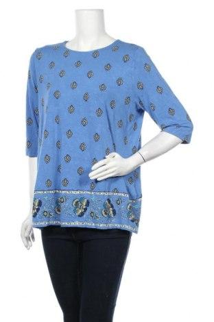 Γυναικεία μπλούζα J.Jill, Μέγεθος L, Χρώμα Μπλέ, 95% βισκόζη, 5% ελαστάνη, Τιμή 4,32€