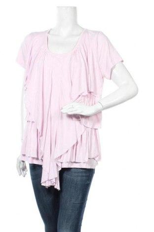 Γυναικεία μπλούζα John Baner, Μέγεθος XXL, Χρώμα Ρόζ , 95% βισκόζη, 5% ελαστάνη, Τιμή 9,94€