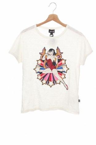 Γυναικεία μπλούζα Just Cavalli, Μέγεθος XS, Χρώμα Λευκό, Βαμβάκι, Τιμή 82,41€