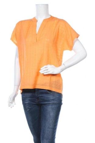 Дамска блуза Kaffe, Размер L, Цвят Оранжев, 50% памук, 47% вискоза, 3% лен, Цена 51,75лв.