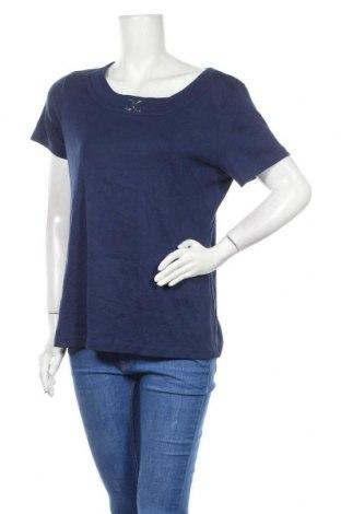 Дамска блуза Karen Scott, Размер L, Цвят Син, 60% памук, 40% полиестер, Цена 12,29лв.
