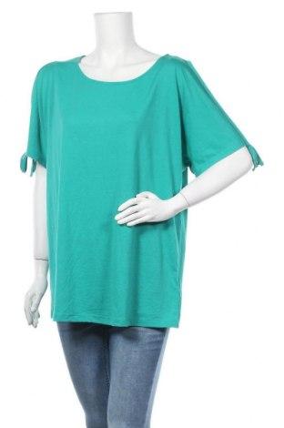 Γυναικεία μπλούζα Laura Torelli, Μέγεθος L, Χρώμα Πράσινο, 65% πολυεστέρας, 35% βισκόζη, Τιμή 9,35€