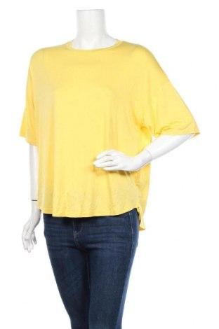 Дамска блуза MSCH, Размер M, Цвят Жълт, 94% вискоза, 6% еластан, Цена 15,17лв.