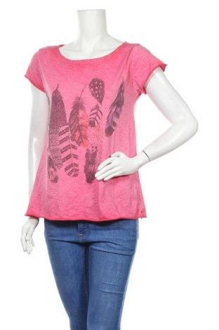 Γυναικεία μπλούζα Made In Italy, Μέγεθος L, Χρώμα Ρόζ , Βαμβάκι, Τιμή 9,38€