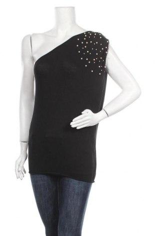 Γυναικεία μπλούζα Made In Italy, Μέγεθος M, Χρώμα Μαύρο, 96% βισκόζη, 4% ελαστάνη, Τιμή 8,83€