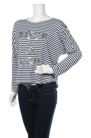 Γυναικεία μπλούζα Made In Italy, Μέγεθος M, Χρώμα Πολύχρωμο, 95% βισκόζη, 5% ελαστάνη, Τιμή 12,34€