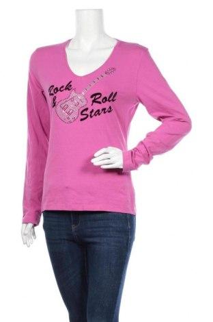 Γυναικεία μπλούζα Madonna, Μέγεθος XL, Χρώμα Ρόζ , 92% βαμβάκι, 8% ελαστάνη, Τιμή 8,28€