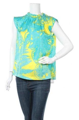 Γυναικεία μπλούζα Marc Cain, Μέγεθος M, Χρώμα Πολύχρωμο, 60% πολυαμίδη, 35% μετάξι, 5% γνήσιο δέρμα, Τιμή 73,07€