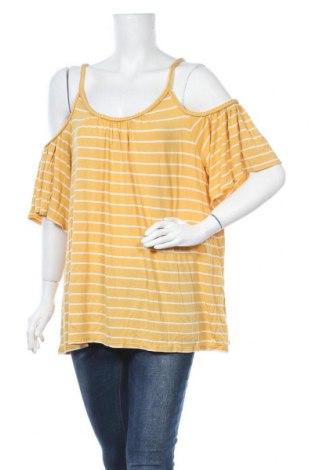 Γυναικεία μπλούζα Max Studio, Μέγεθος XL, Χρώμα Κίτρινο, 95% βισκόζη, 5% ελαστάνη, Τιμή 13,45€