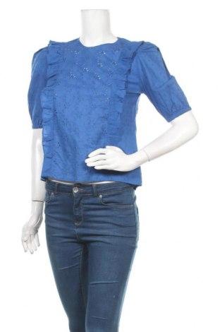 Γυναικεία μπλούζα Mint & Berry, Μέγεθος XXS, Χρώμα Μπλέ, Βαμβάκι, Τιμή 13,92€