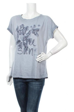 Γυναικεία μπλούζα Monari, Μέγεθος L, Χρώμα Μπλέ, Βαμβάκι, Τιμή 23,38€