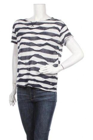 Γυναικεία μπλούζα Monari, Μέγεθος S, Χρώμα Μπλέ, 66% λινό, 34% βισκόζη, Τιμή 23,38€