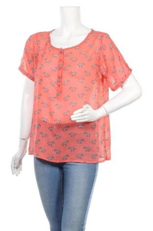 Дамска блуза Multiblu, Размер L, Цвят Оранжев, 100% полиестер, Цена 3,14лв.