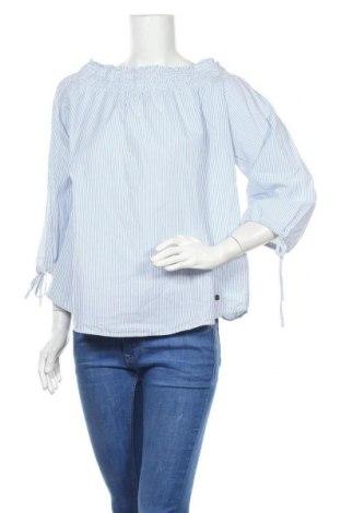 Дамска блуза My Blue by Tchibo, Размер L, Цвят Син, Памук, Цена 16,07лв.